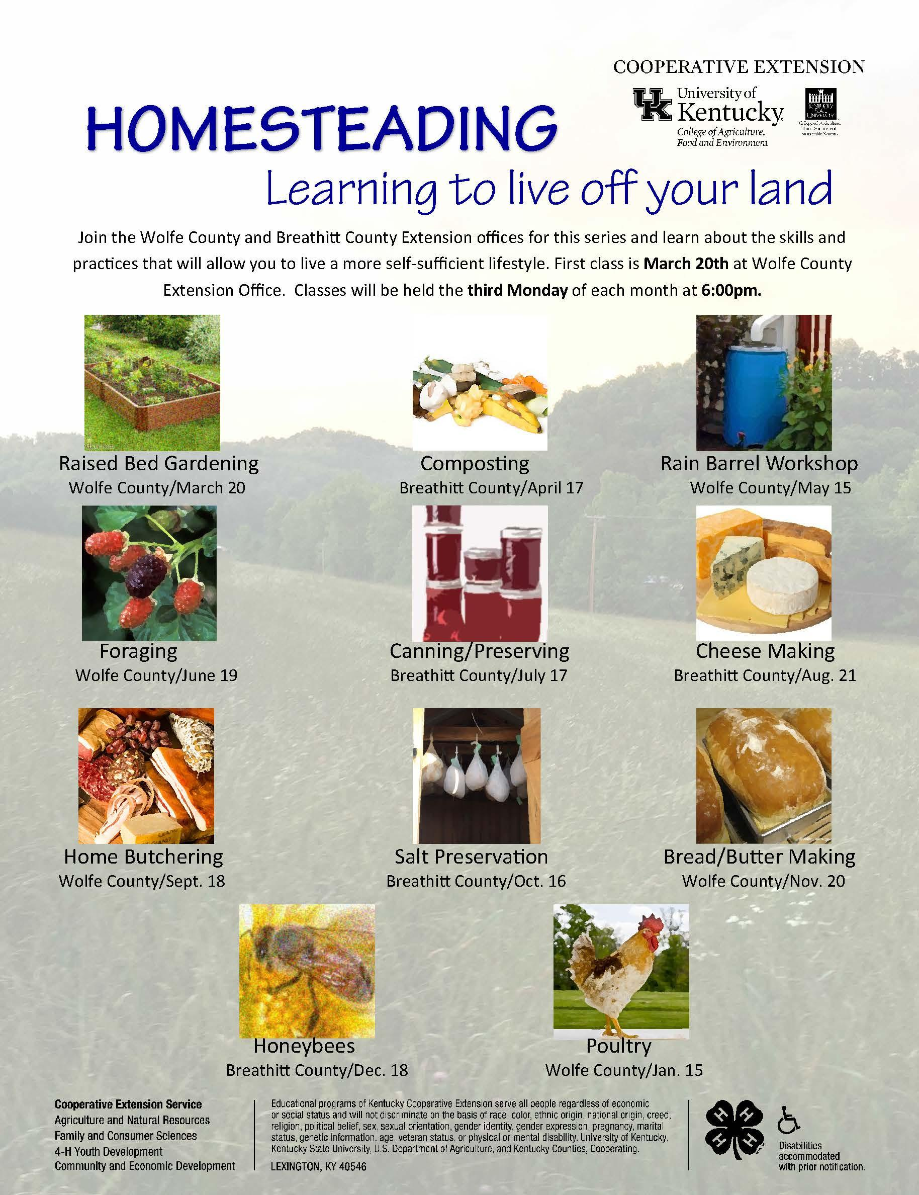 Homesteading Series